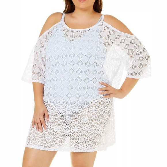 2110df4970 Dotti Wearabouts Crochet Cold Shoulder Cover Up
